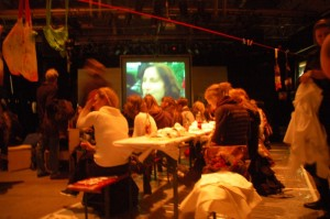 Handmade Nation screening at Viva La Craft hosted by Chicks On Speed at Kampnagel Theater