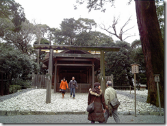 Ise Grand Shrine, which is completely re-build every 20 years