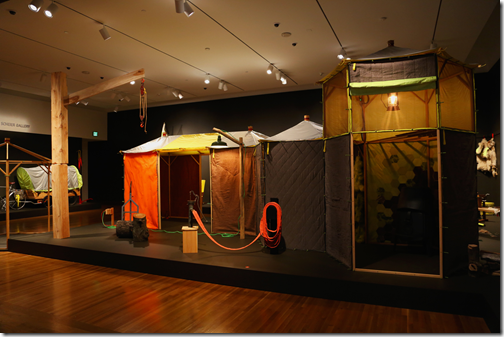 Abigail Newbold Crafting Settlement installation view, Currier Museum of Art, 2013